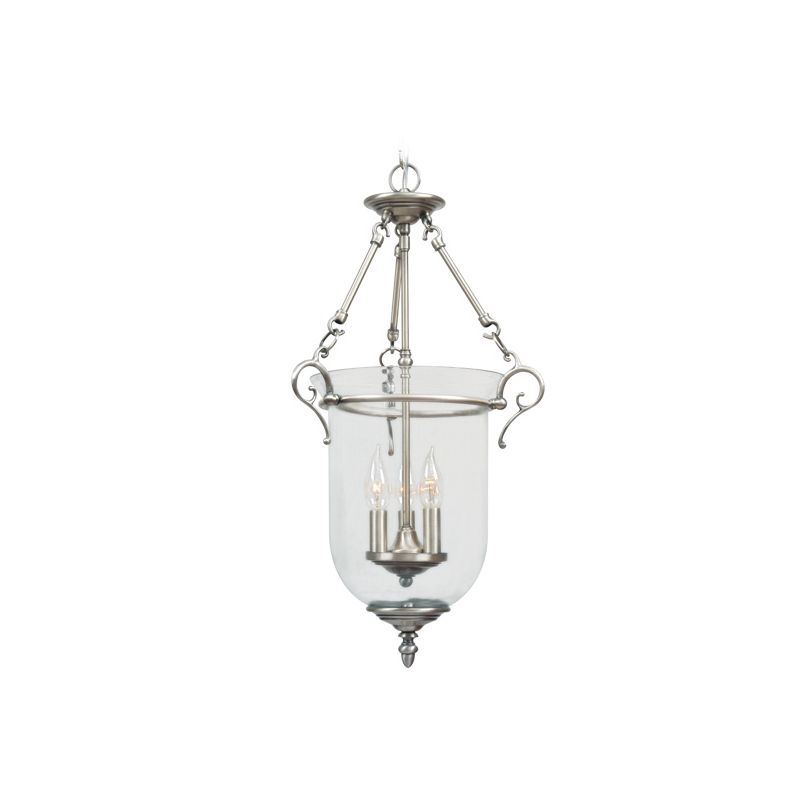 Livex Lighting 5022 Legacy 3 Light Pendant Brushed Nickel Indoor