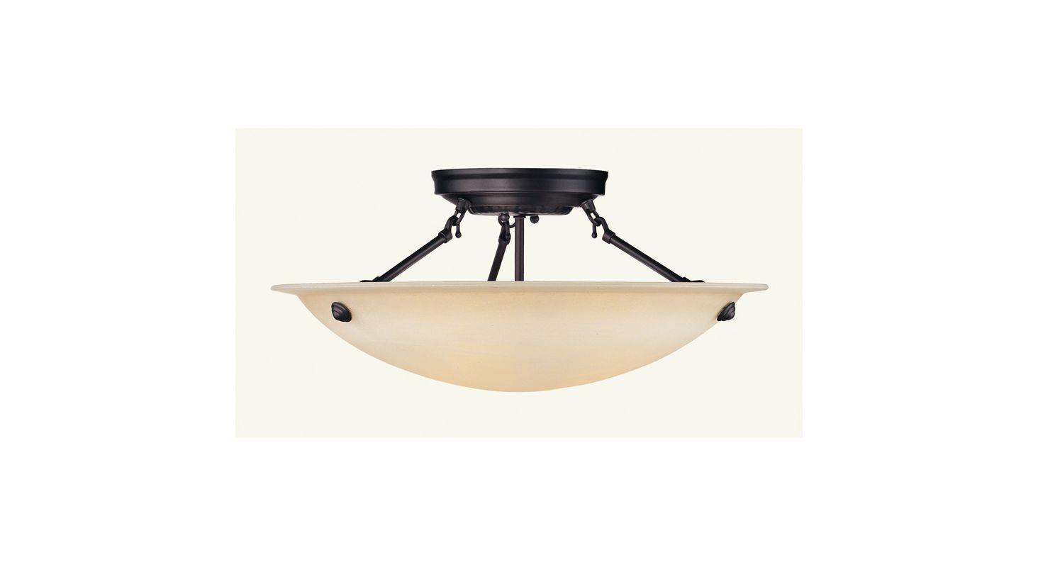Livex Lighting 5626 Oasis 3 Light Semi-Flush Ceiling Fixture Bronze Sale $149.90 ITEM: bci1034237 ID#:5626-07 :