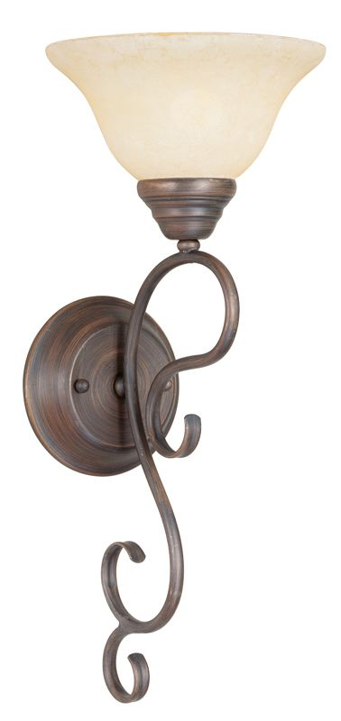 Livex Lighting 6100 Coronado 1 Light Wall Sconce Imperial Bronze