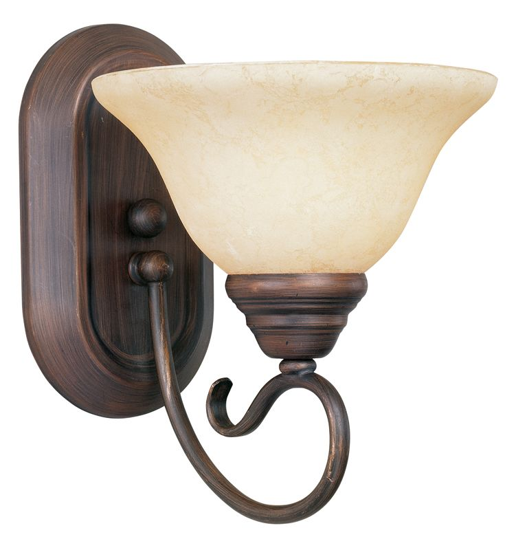 Livex Lighting 6101 Coronado 1 Light Wall Sconce Imperial Bronze
