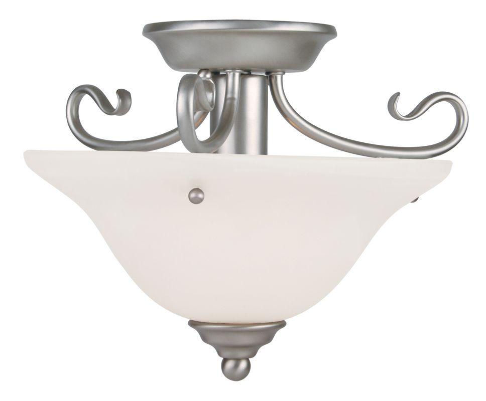 Livex Lighting 6109 Coronado 1 Light Semi-Flush Ceiling Fixture