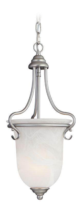 Livex Lighting 6116 Coronado 1 Light Pendant Brushed Nickel Indoor