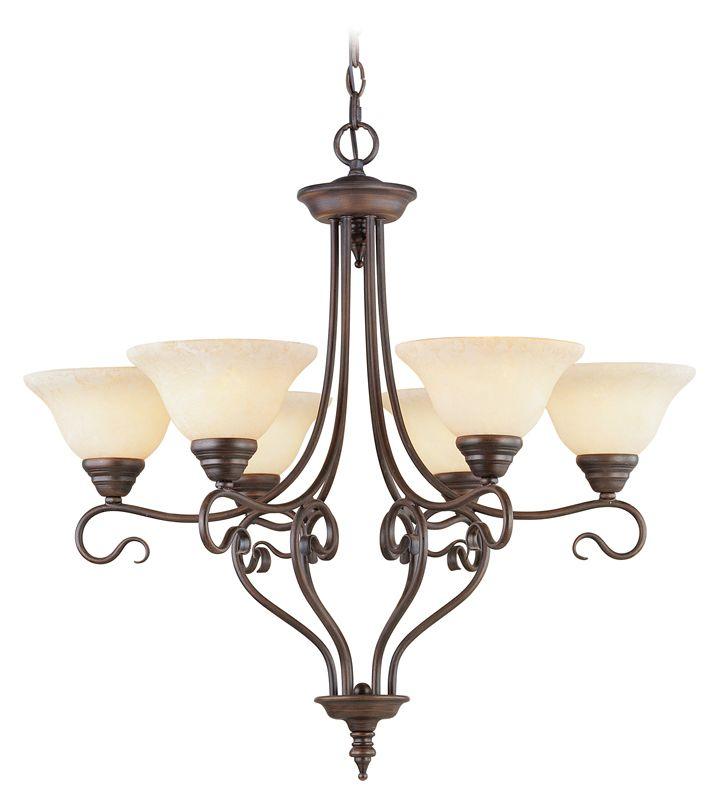 Livex Lighting 6126 Coronado 6 Light 1 Tier Chandelier Imperial Bronze