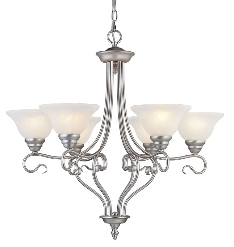Livex Lighting 6126 Coronado 6 Light 1 Tier Chandelier Brushed Nickel Sale $299.90 ITEM: bci1034319 ID#:6126-91 UPC: 847284011540 :