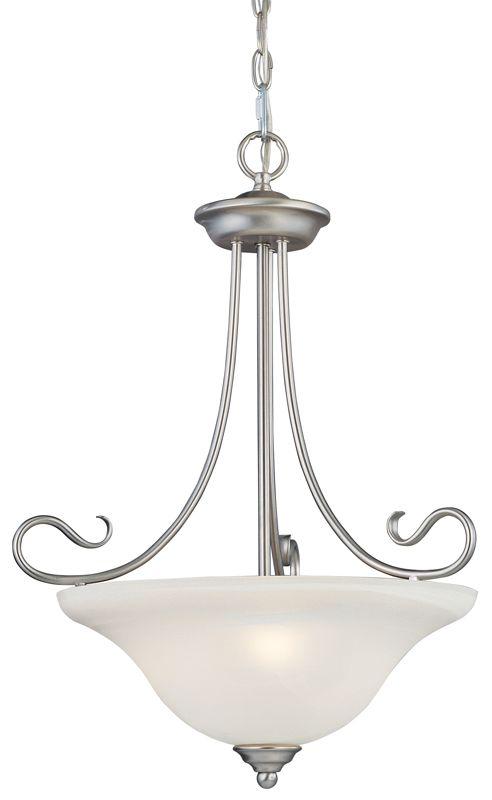 Livex Lighting 6131 Coronado 3 Light Pendant Brushed Nickel Indoor