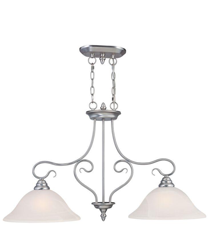 Livex Lighting 6132 Coronado 2 Light 1 Tier Linear Chandelier Brushed