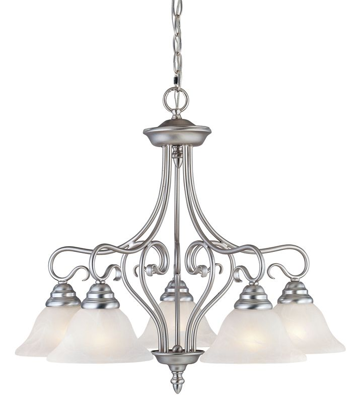 Livex Lighting 6135 Coronado 5 Light 1 Tier Chandelier Brushed Nickel