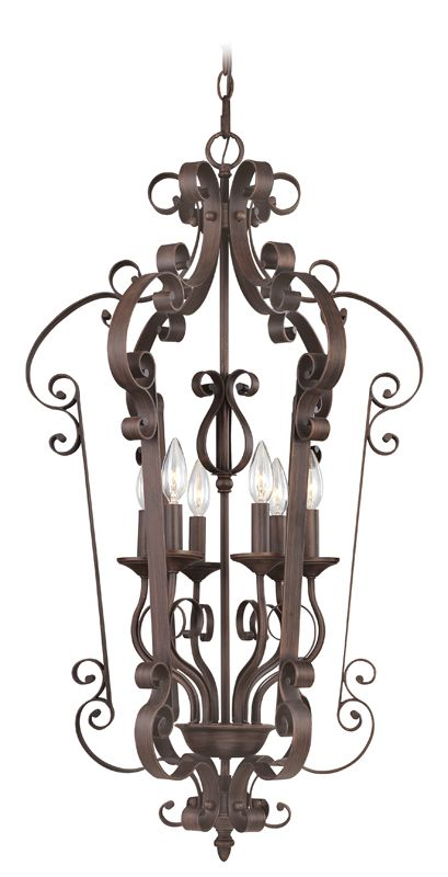 Livex Lighting 6164 Manchester 6 Light Pendant Imperial Bronze Indoor