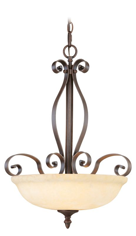Livex Lighting 6168 Manchester 3 Light Pendant Imperial Bronze Indoor Sale $199.90 ITEM: bci1034361 ID#:6168-58 UPC: 847284002326 :