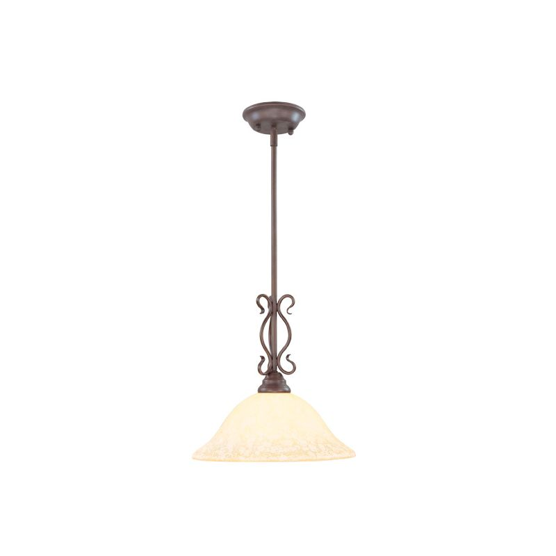 Livex Lighting 6181 Coronado 1 Light Pendant Imperial Bronze Indoor