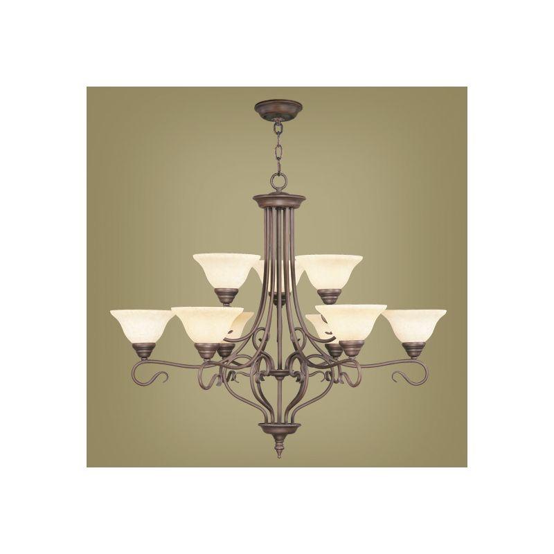Livex Lighting 6188 Coronado 9 Light 2 Tier Chandelier Imperial Bronze