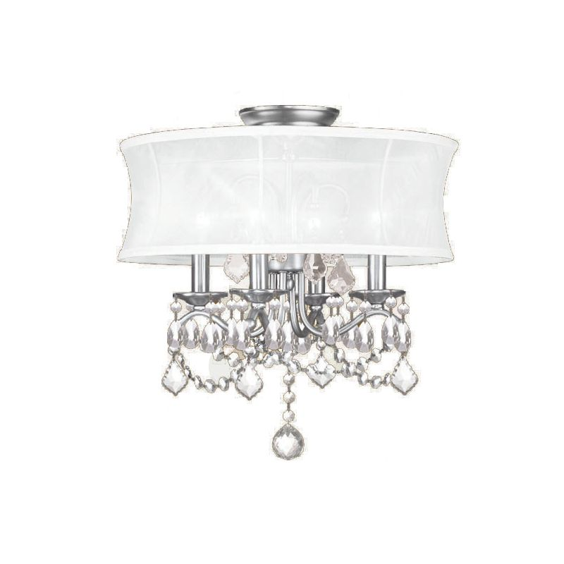 Livex Lighting 6304 4 Light Semi-Flushmount Ceiling Fixture with Round