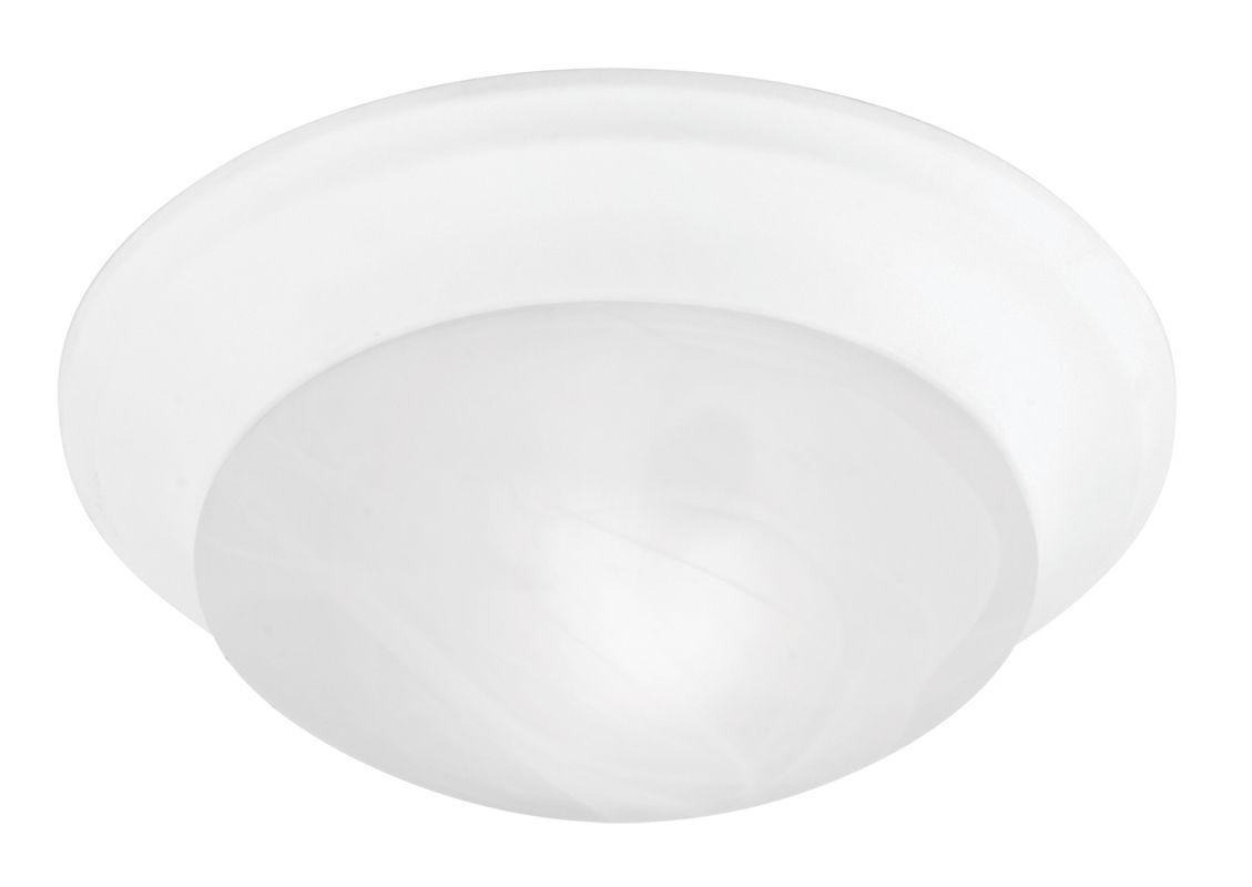 Livex Lighting 7302 Omega 1 Light Flush Mount Ceiling Fixture White
