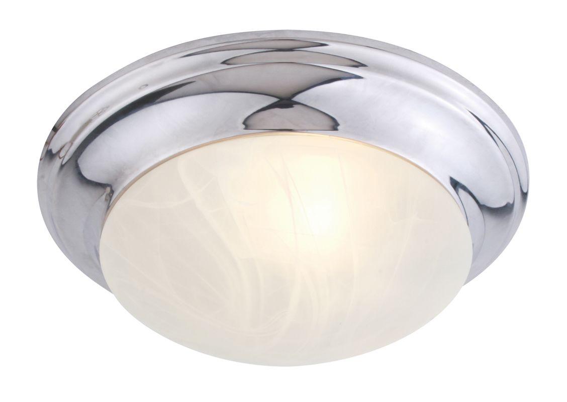 Livex Lighting 7302 Omega 1 Light Flush Mount Ceiling Fixture Chrome