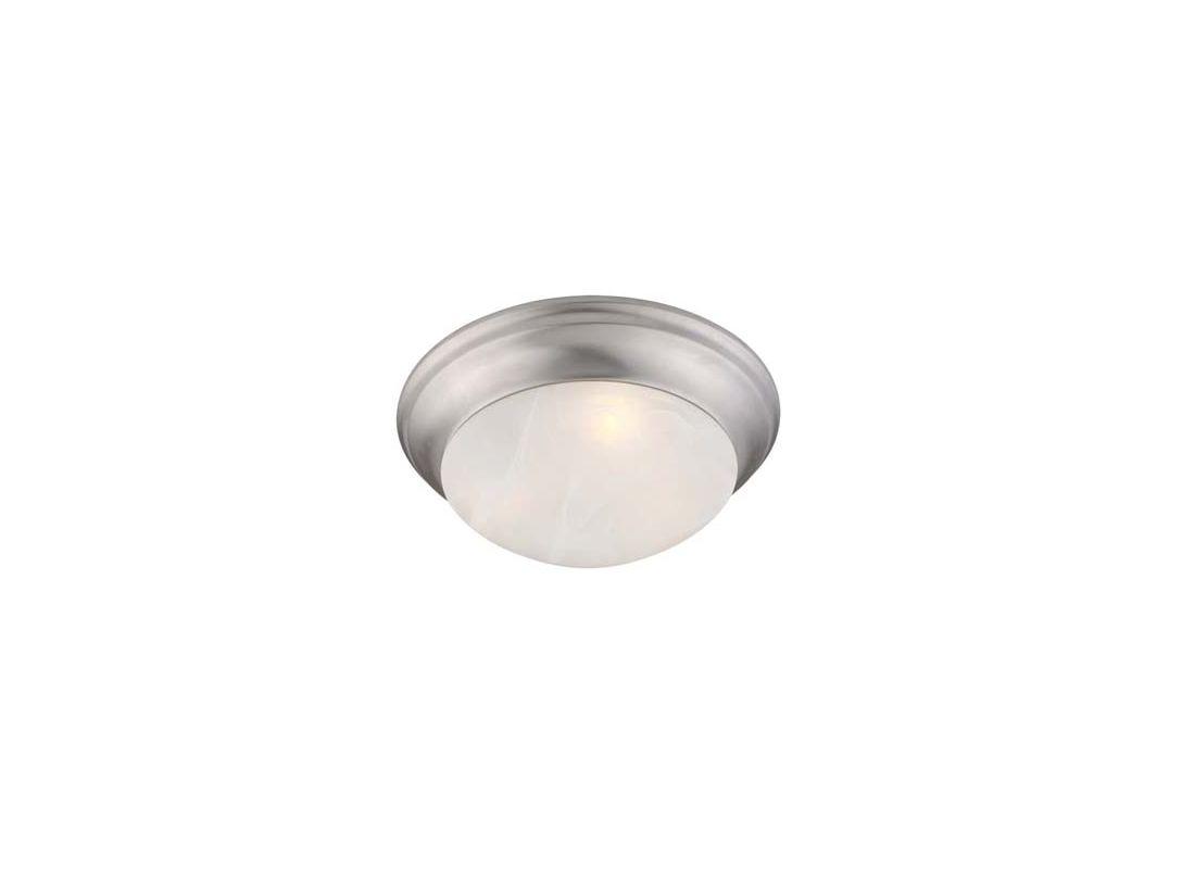 Livex Lighting 7303 Omega 2 Light Flush Mount Ceiling Fixture Brushed