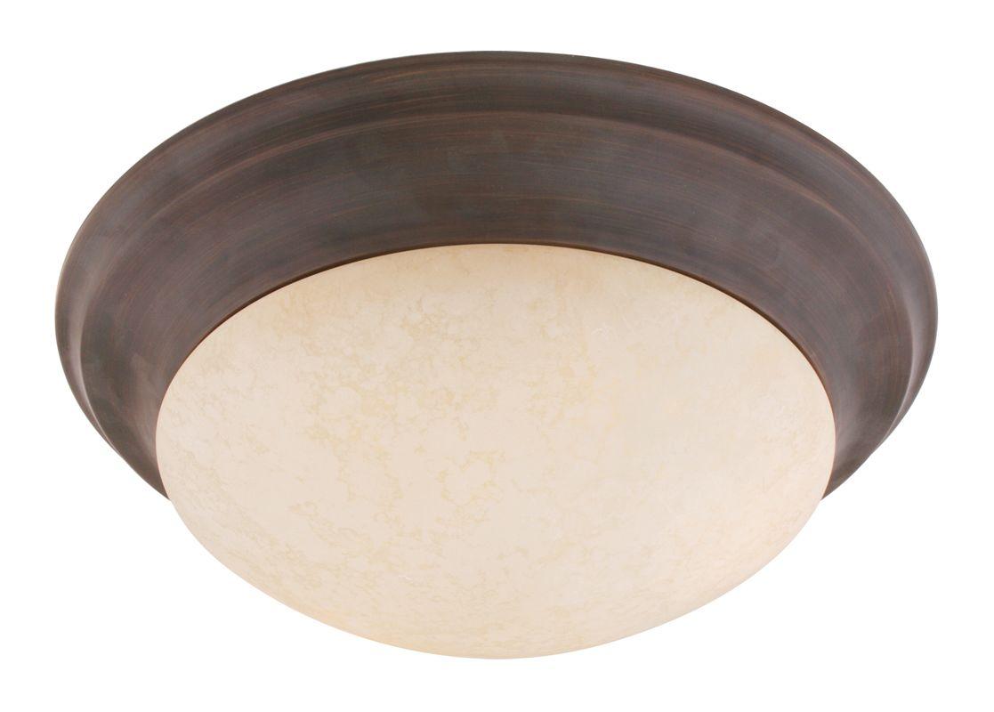 Livex Lighting 7313 Omega 2 Light Flush Mount Ceiling Fixture Imperial