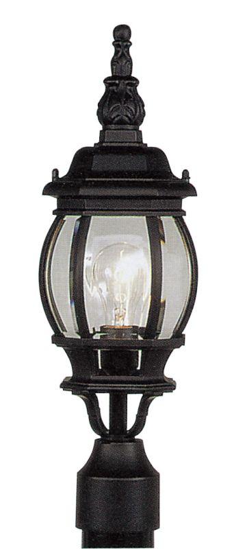 Livex Lighting 7522 Frontenac 1 Light Outdoor Post Light Black Outdoor