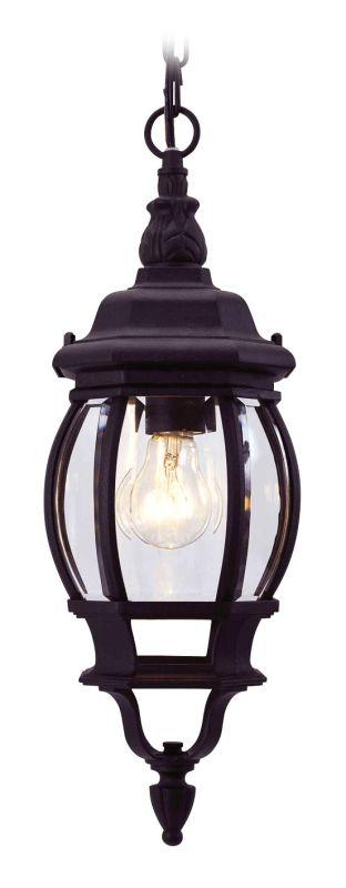 Livex Lighting 7523 Frontenac 1 Light Outdoor Pendant Black Outdoor