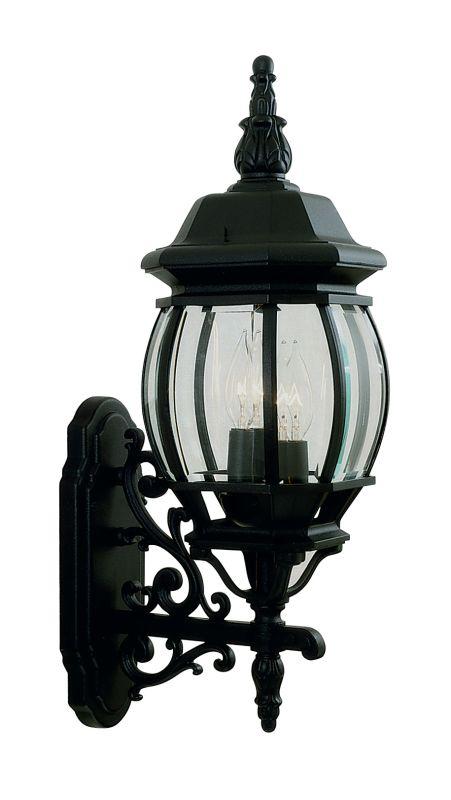 Livex Lighting 7524 Frontenac 3 Light Outdoor Wall Sconce Black