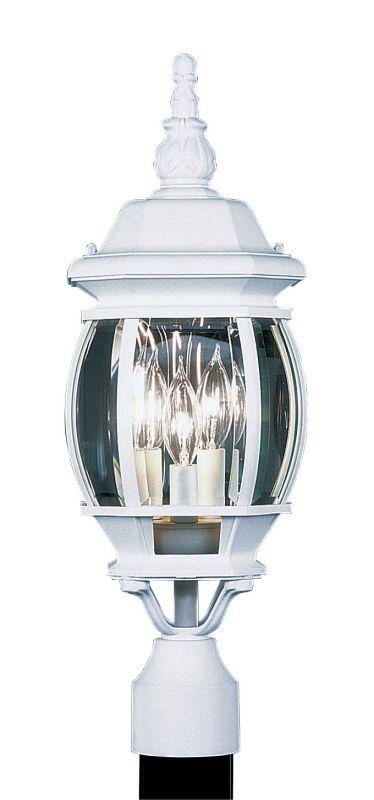 Livex Lighting 7526 Frontenac 3 Light Outdoor Post Light White Outdoor