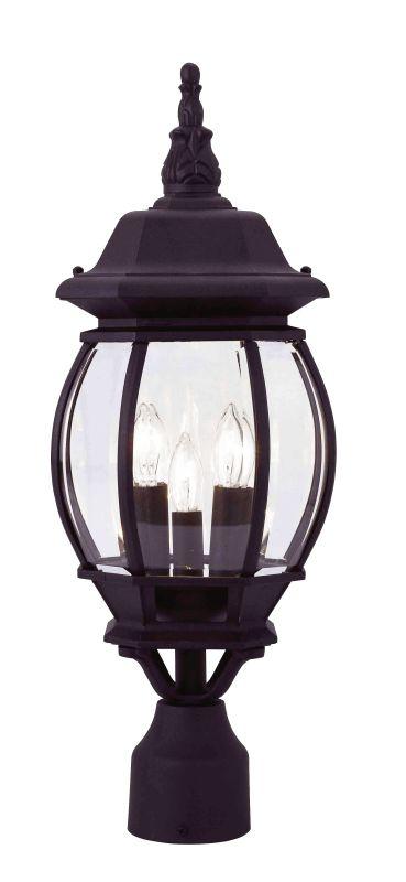 Livex Lighting 7526 Frontenac 3 Light Outdoor Post Light Black Outdoor