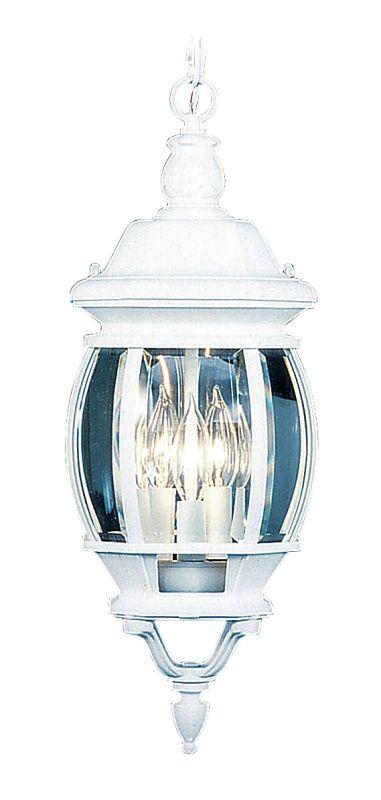 Livex Lighting 7527 Frontenac 3 Light Outdoor Pendant White Outdoor
