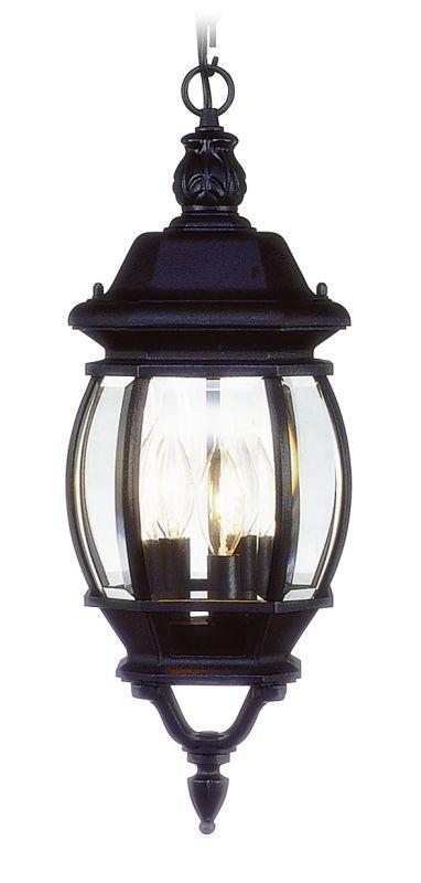 Livex Lighting 7527 Frontenac 3 Light Outdoor Pendant Black Outdoor