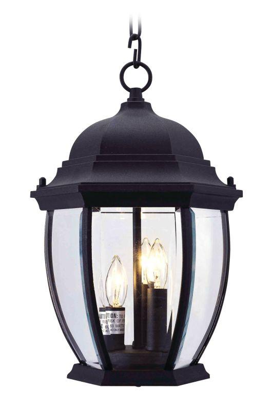 Livex Lighting 7539 Kingston 3 Light Outdoor Pendant Black Outdoor