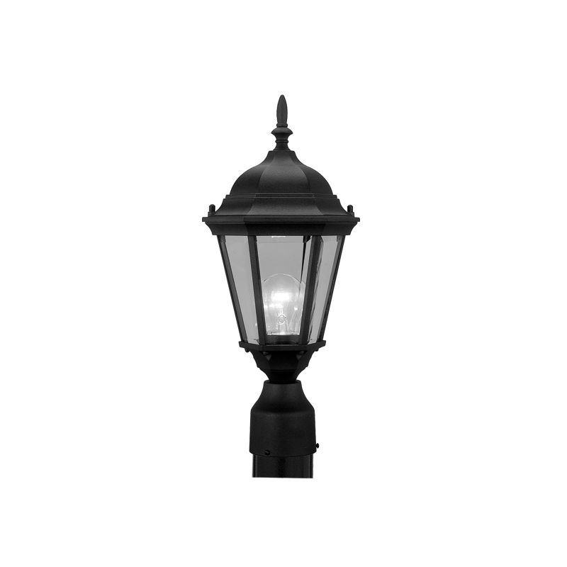 Livex Lighting 7558 Hamilton 1 Light Outdoor Post Light Black Outdoor