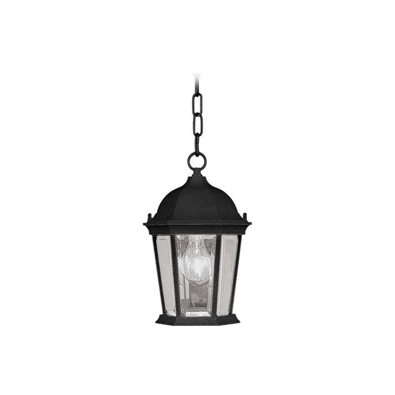 Livex Lighting 7559 Hamilton 1 Light Outdoor Pendant Black Outdoor