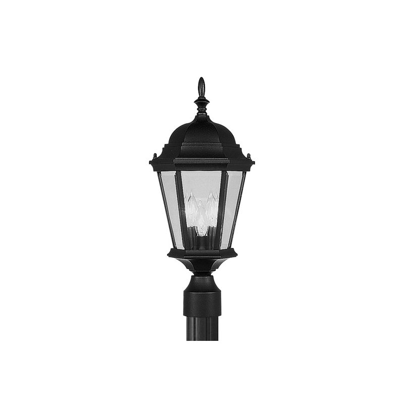 Livex Lighting 7563 Hamilton 3 Light Outdoor Post Light Black Outdoor Sale $119.90 ITEM: bci1034591 ID#:7563-04 :