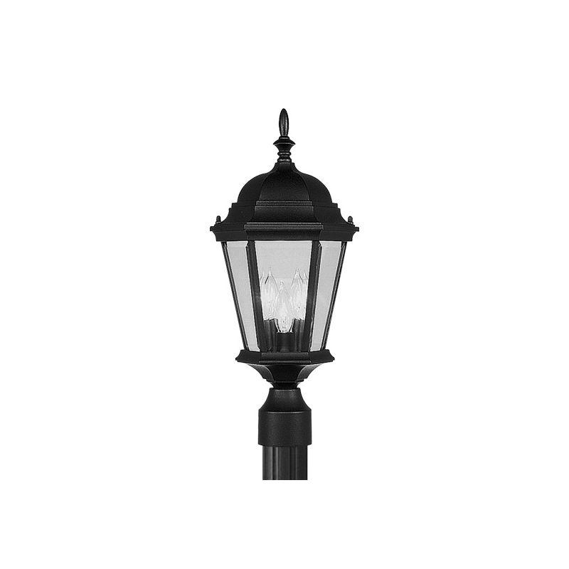 Livex Lighting 7563 Hamilton 3 Light Outdoor Post Light Black Outdoor