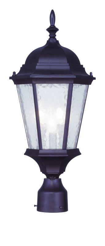 Livex Lighting 7563 Hamilton 3 Light Outdoor Post Light Bronze Outdoor