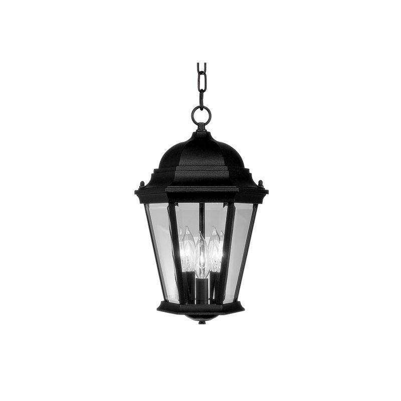 Livex Lighting 7564 Hamilton 3 Light Outdoor Pendant Black Outdoor