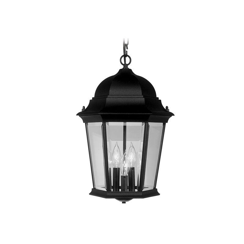 Livex Lighting 7569 Hamilton 3 Light Outdoor Pendant Black Outdoor