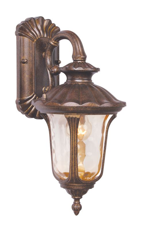 Livex Lighting 7651 Oxford 1 Light Outdoor Wall Sconce Moroccan Gold