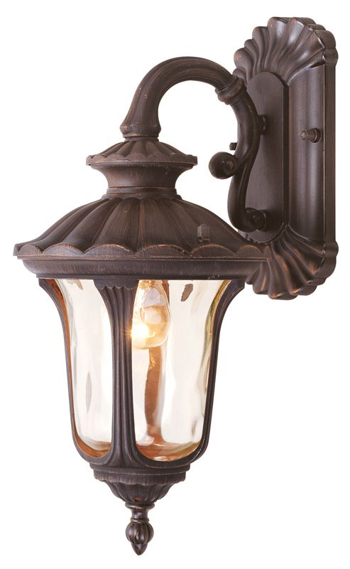 Livex Lighting 7651 Oxford 1 Light Outdoor Wall Sconce Imperial Bronze