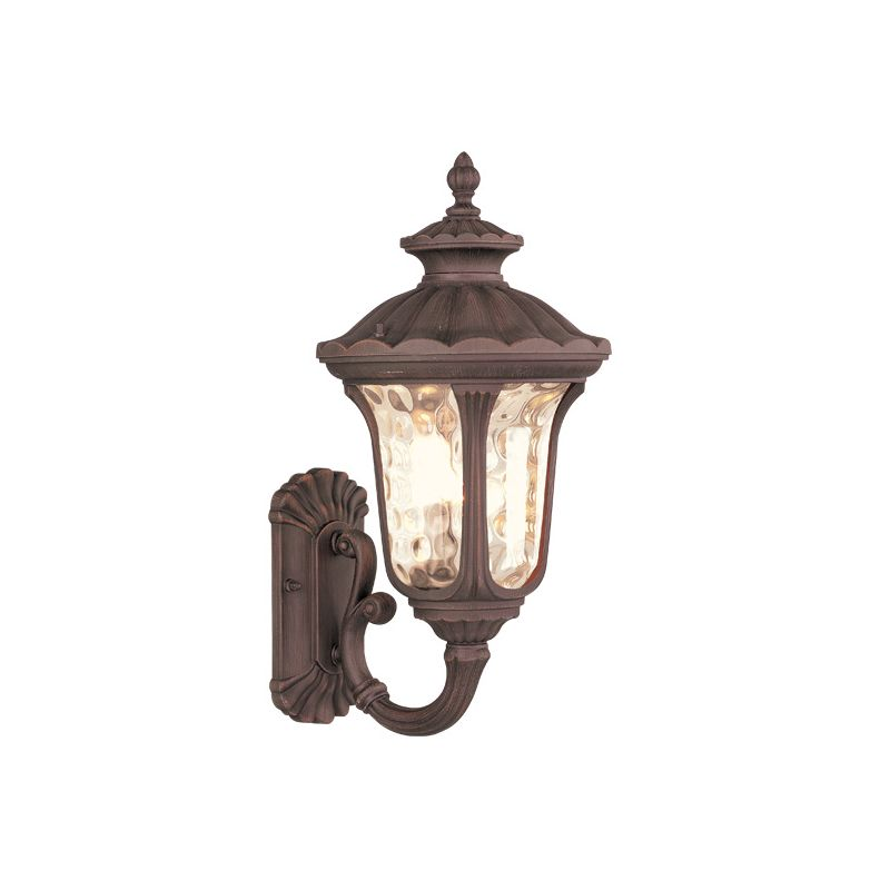 Livex Lighting 7652 Oxford 1 Light Outdoor Wall Sconce Imperial Bronze