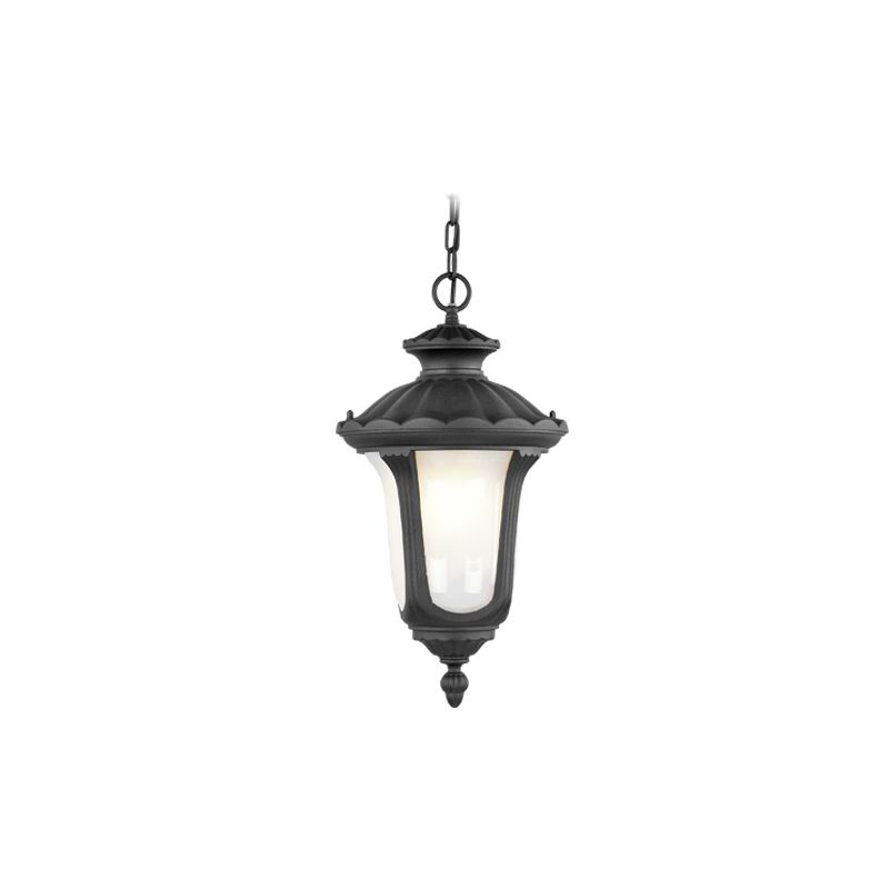 Livex Lighting 7654 Oxford 1 Light Outdoor Pendant Black Outdoor