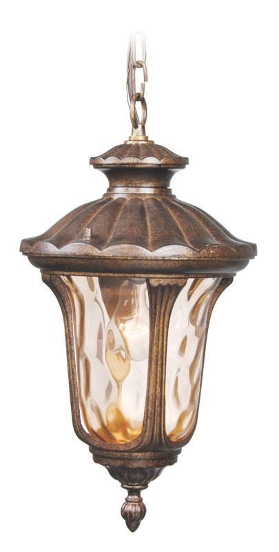 Livex Lighting 7654 Oxford 1 Light Outdoor Pendant Moroccan Gold