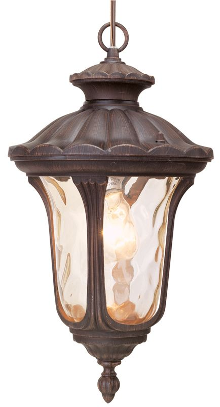 Livex Lighting 7654 Oxford 1 Light Outdoor Pendant Imperial Bronze