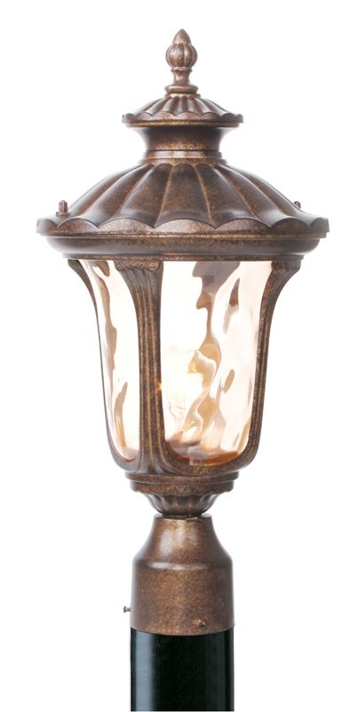 Livex Lighting 7655 Oxford 1 Light Outdoor Post Light Moroccan Gold
