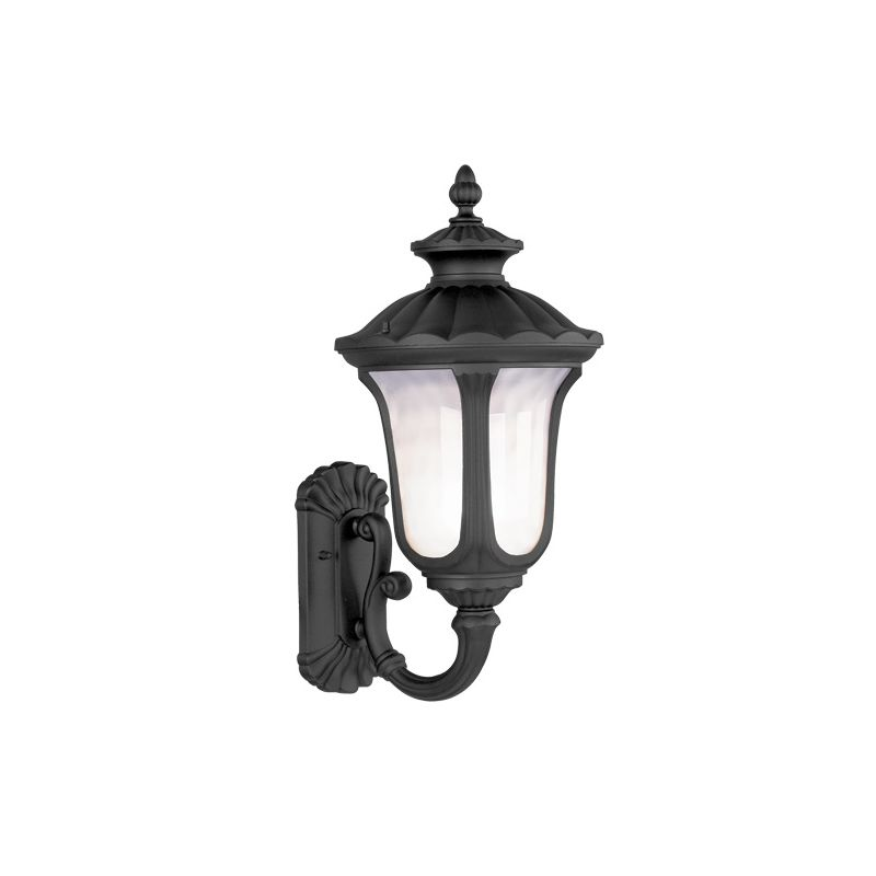 Livex Lighting 7656 Oxford 3 Light Outdoor Wall Sconce Black Outdoor