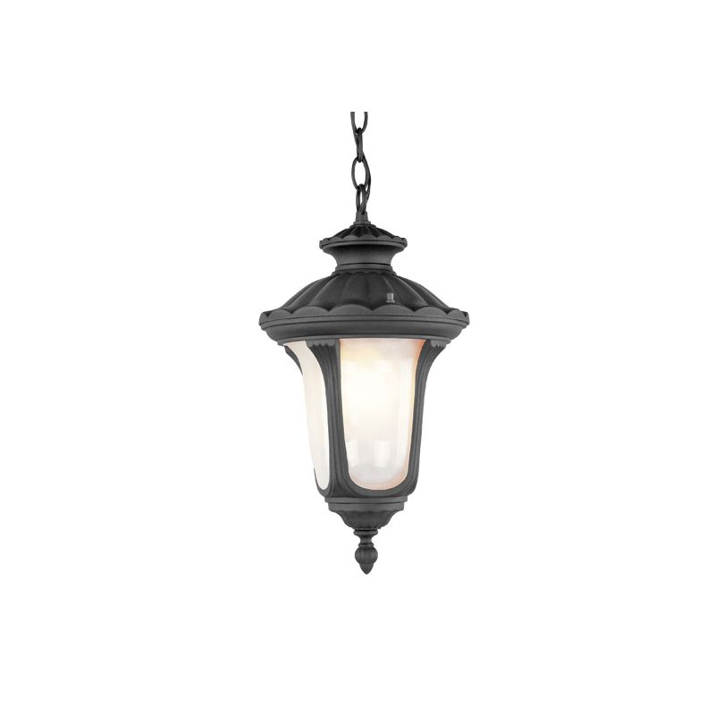 Livex Lighting 7658 Oxford 3 Light Outdoor Pendant Black Outdoor