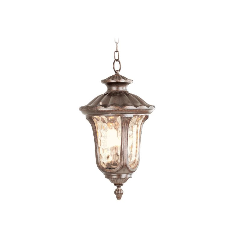 Livex Lighting 7658 Oxford 3 Light Outdoor Pendant Moroccan Gold