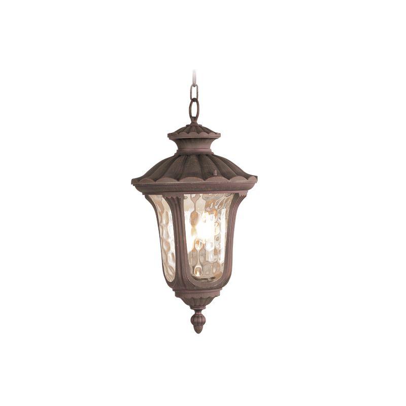 Livex Lighting 7658 Oxford 3 Light Outdoor Pendant Imperial Bronze