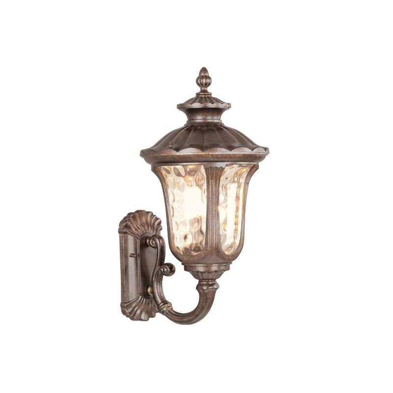 Livex Lighting 7662 Oxford 3 Light Outdoor Wall Sconce Moroccan Gold