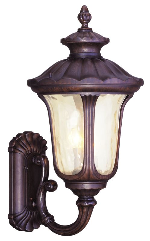 Livex Lighting 7662 Oxford 3 Light Outdoor Wall Sconce Imperial Bronze