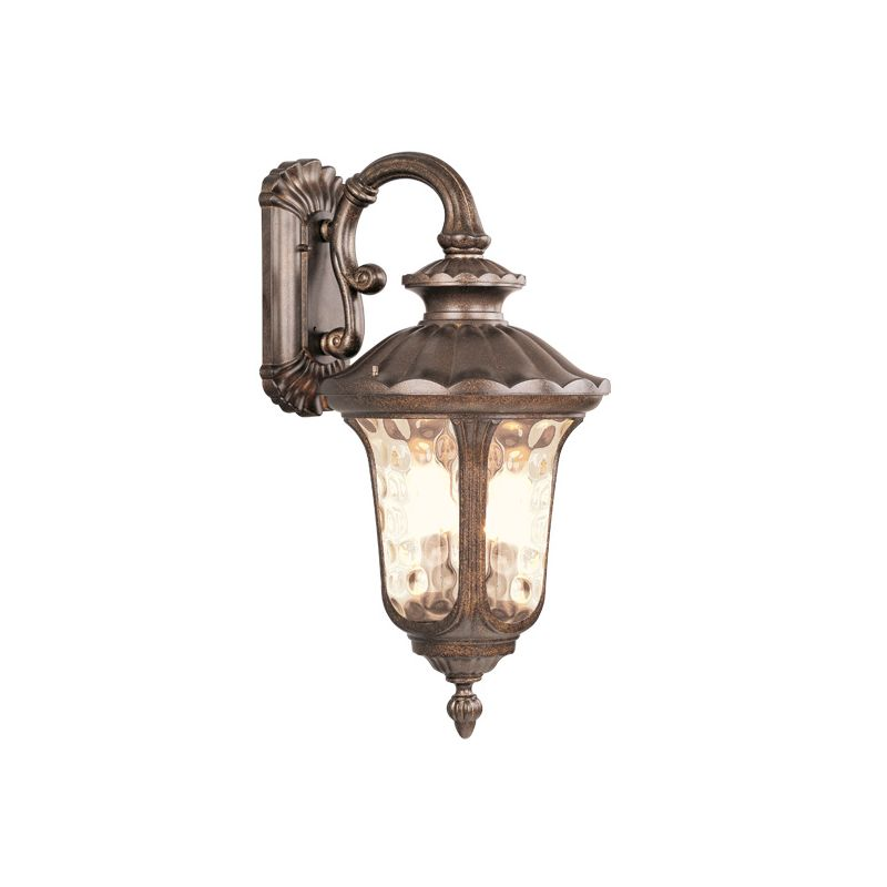 Livex Lighting 7663 Oxford 3 Light Outdoor Wall Sconce Moroccan Gold