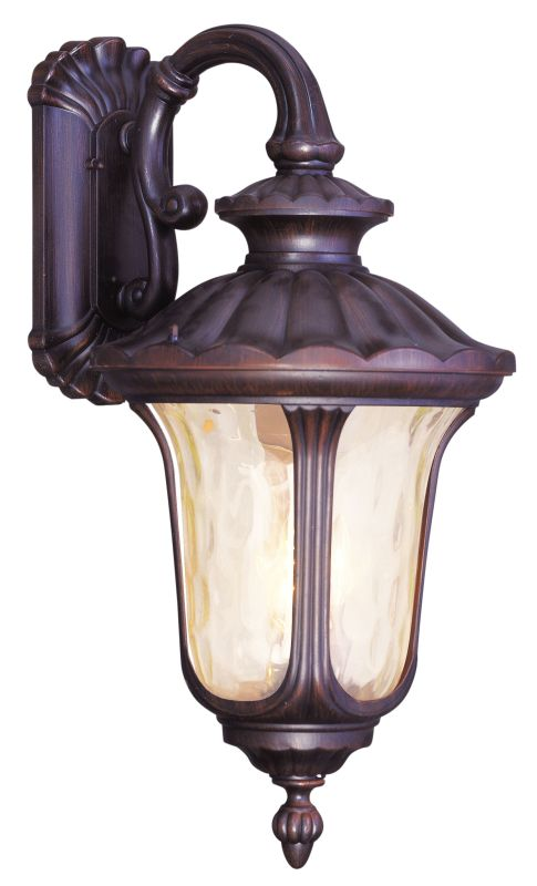 Livex Lighting 7663 Oxford 3 Light Outdoor Wall Sconce Imperial Bronze